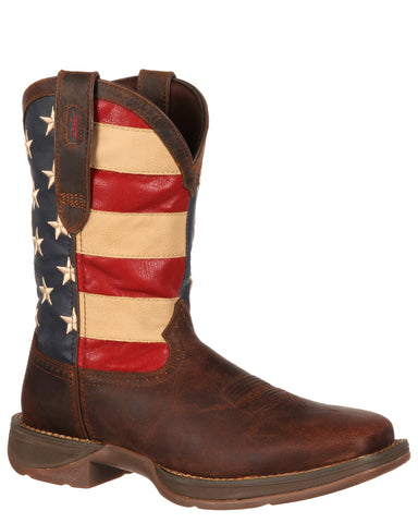 Mens Rebel Patriotic Pull-On Boots