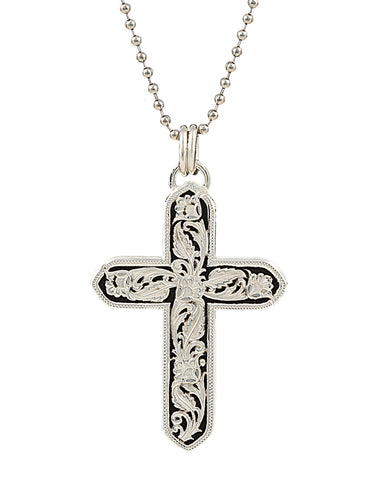 Leather Cut Out Cross Necklace