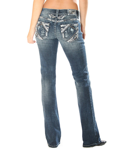 Womens Stitched Jeans