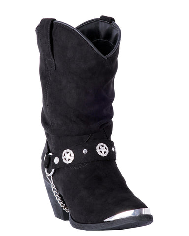 Womens Camilla Fashion Harness Boots - Black