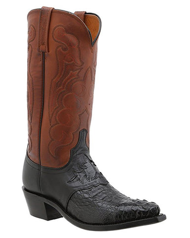 Mens Beauford HB Caiman Crocodile Boots - Black