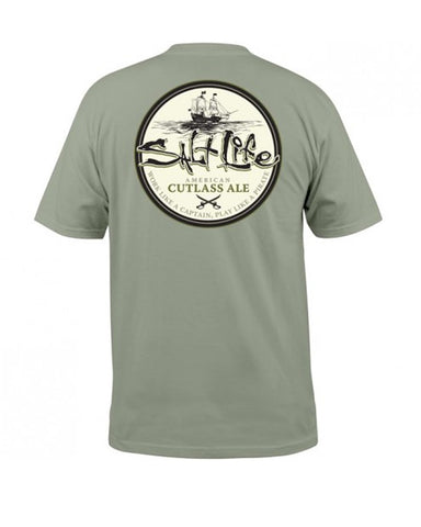 Salt Life Cutlass Ale T-Shirt - Olive