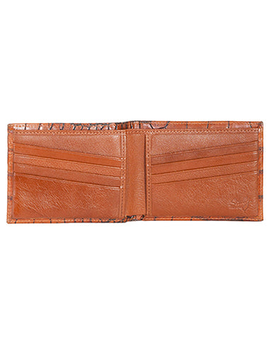 Men's Billfold Crocodile Wallet - Cognac