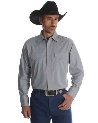 Men's Silver Edition Snap Front Western Shirt - Grey