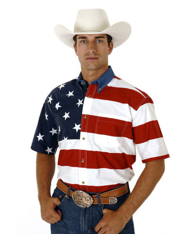 Men's Patriotic Western Shirt