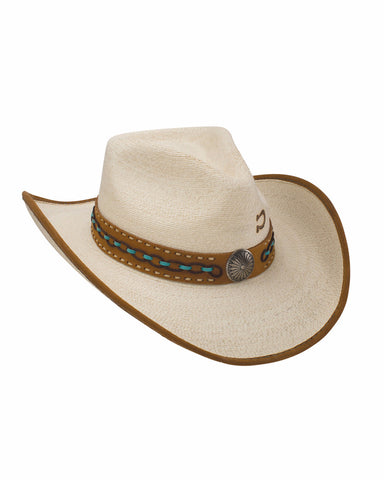 Charlie 1 Horse White Lie Palm Straw Hat