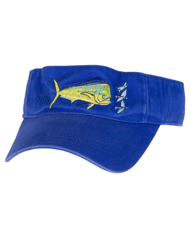 Guy Harvey's Bull Dolphin Visor - Royal