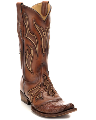 Mens Embroidered Caiman Boots