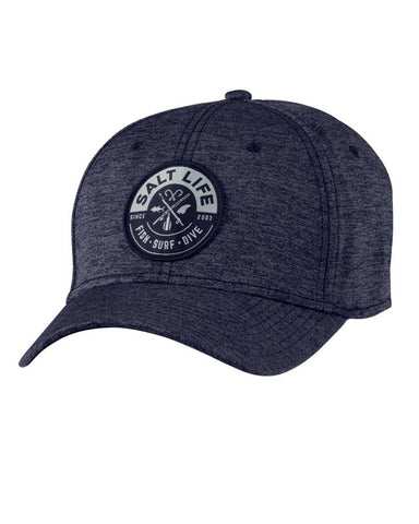 Salt Life Icon Stretch Fit Ball Cap - Navy