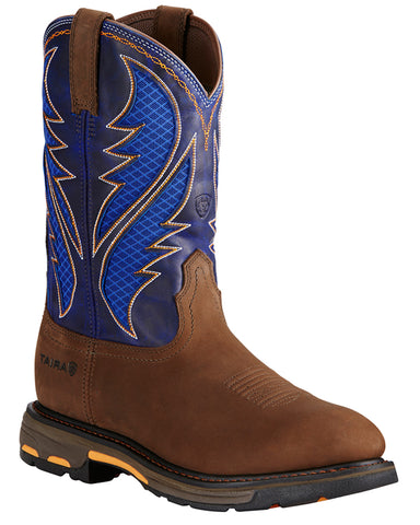 Mens Workhog VentTEK Pull-On Boots - Blue