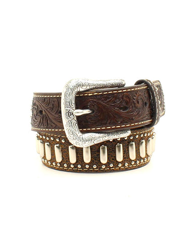 Kids Floral Tooled Belt