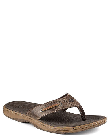 Mens Baitfish Thong Flip-Flops - Brown