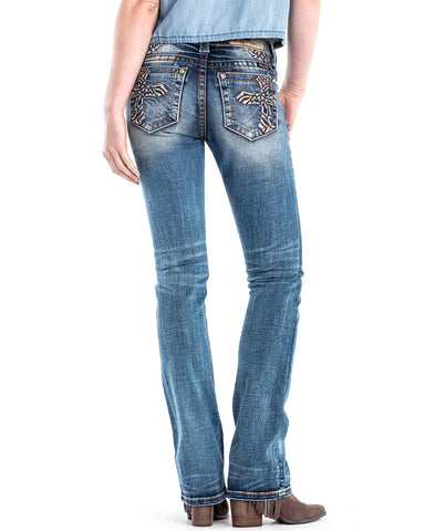 Women's Don't Cross Me Slim Boot Cut Jeans