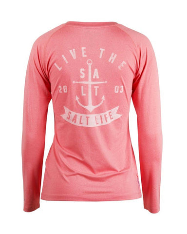 Womens Ventura Long Sleeve SLX Performance T-Shirt - Pink