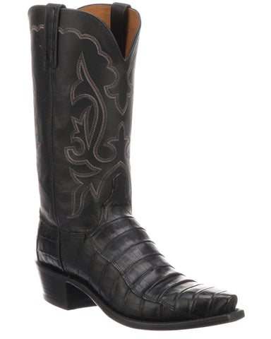 Mens Ultra Belly Caiman Boots -Jersey Black