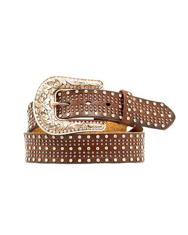 Women's Crystal Hair-On Belt