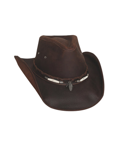 Bullhide Briscoe Top Grain Leather Hat