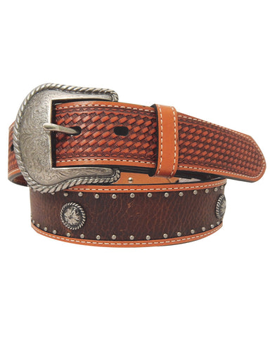 Mens Antique Conchos Belt