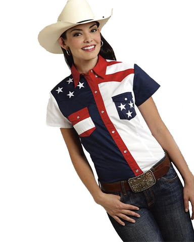 Womens Embroidered Stars Shirt