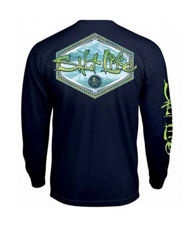 Men's Mahi Peak Long Sleeve Shirt - Navy