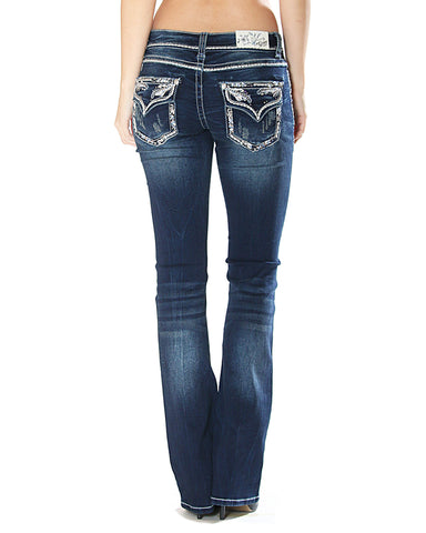 Women's Embroidered Knit Jeans
