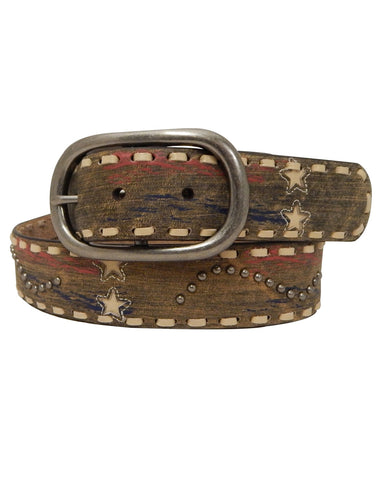 Womens Antique Stars Belt