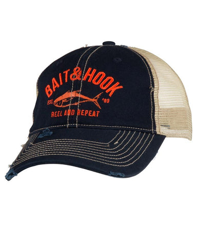 Salt Life Keep Fishing Mesh Ball Cap - Navy