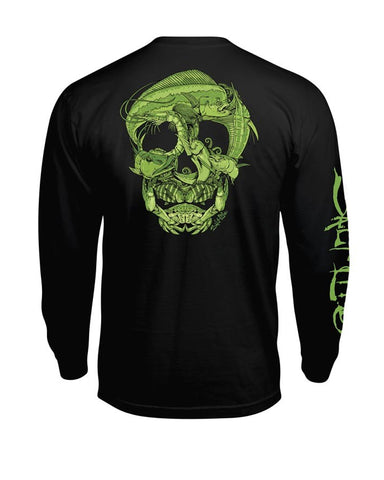 Mens Sea Skull Long Sleeve T-Shirt