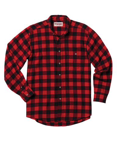 Men's Rugged Wear Flannel Long Sleeve Western Shirt