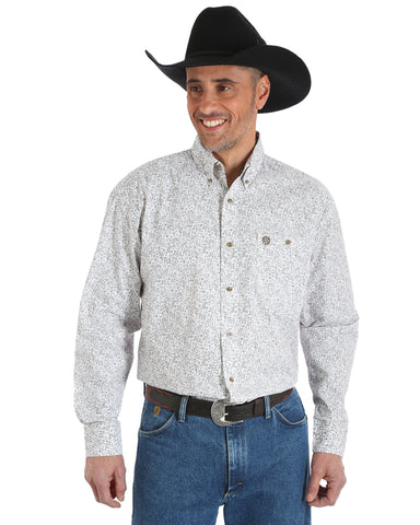 Men's George Strait Chesnut Paisley Western Shirt