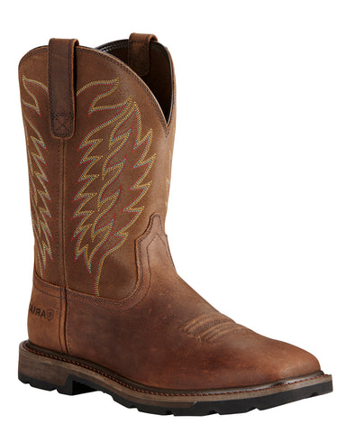 Mens Groundbreaker Steel-Toe Western Work Boots