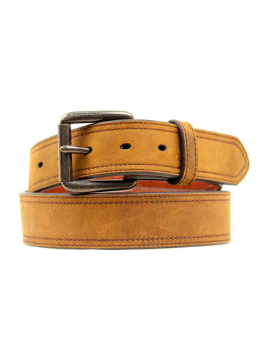 Men's Distressed Stitch Belt - Brown
