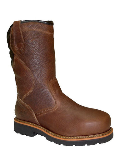 Men's Steel-Toe Waterproof Pull-On Boots