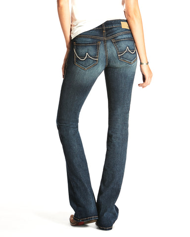 Womens Stretch Crosshatch Evening Boot Cut Jeans
