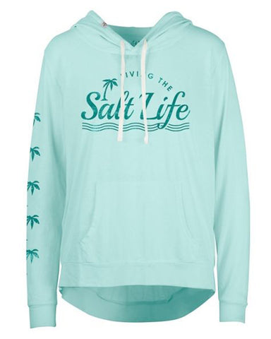 Women's Sunburnt Lightweight Pullover Hoodie - Light Blue