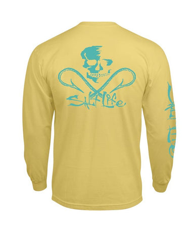 Men's Skull & Hooks Long Sleeve Shirt - Banana