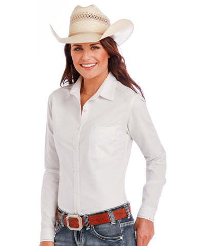 Womens Bridgeton Oxford Long Sleeve Western Shirt
