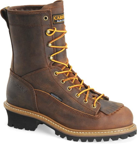 "Mens 8"" Spruce WP Steel-Toe Logger Boots"