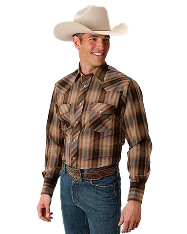 Men's 1923 Plaid Long Sleeve Western Shirt