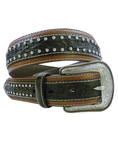 Mens Contrast Stitch Leather Belt