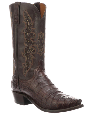 Men's Limited Release Caiman Belly Boots - Brown