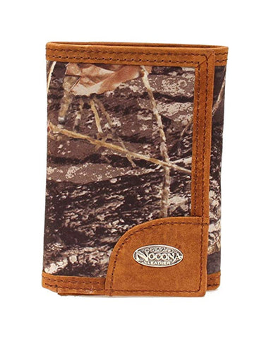 Tri-Fold Camo Outdoor Leather Wallet