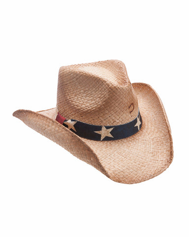 Charlie 1 Horse Stars And Stripes Straw Hat