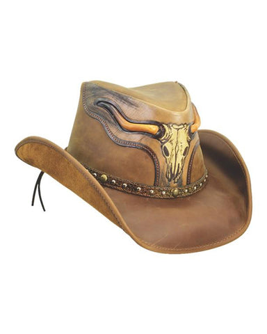 "Dallas ""The Steer"" Leather Hat"