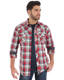 Mens Rock 47 Plaid Two Pocket Western Shirt