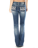 Women's Western Embroidered Jeans