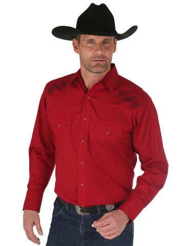 Men's Sport Silver Edition Long Sleeve Western Shirt