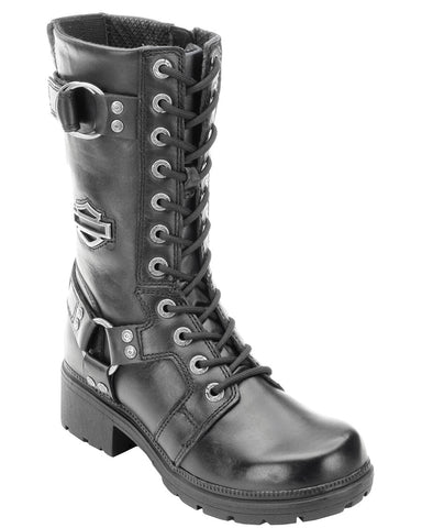 Women's Eda Lace-Up Motorcycle Boots