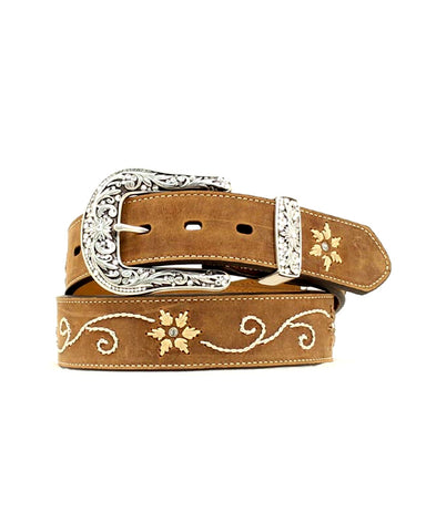 Womens Embroidered Leather Belt