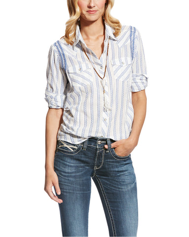 Womens Angie Button-Up Long Sleeve Western Shirt